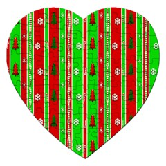 Christmas Paper Pattern Jigsaw Puzzle (Heart)