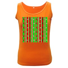 Christmas Paper Pattern Women s Dark Tank Top