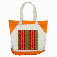 Christmas Paper Pattern Accent Tote Bag