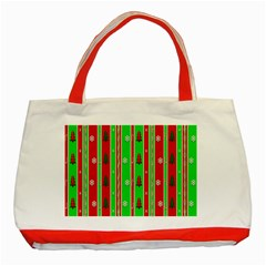 Christmas Paper Pattern Classic Tote Bag (Red)