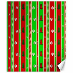 Christmas Paper Pattern Canvas 8  x 10