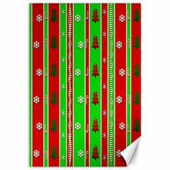 Christmas Paper Pattern Canvas 12  x 18