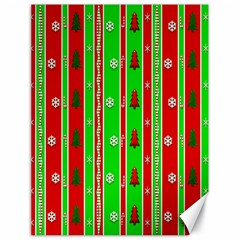 Christmas Paper Pattern Canvas 18  x 24