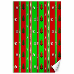 Christmas Paper Pattern Canvas 24  X 36