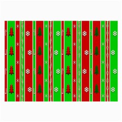 Christmas Paper Pattern Large Glasses Cloth (2-Side)
