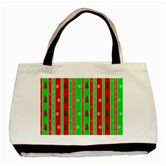 Christmas Paper Pattern Basic Tote Bag (Two Sides)