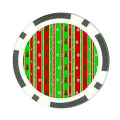 Christmas Paper Pattern Poker Chip Card Guard