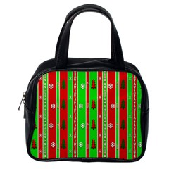 Christmas Paper Pattern Classic Handbags (One Side)