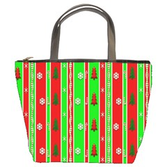 Christmas Paper Pattern Bucket Bags