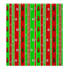 Christmas Paper Pattern Shower Curtain 66  x 72  (Large)