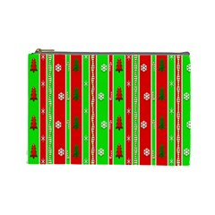 Christmas Paper Pattern Cosmetic Bag (Large)