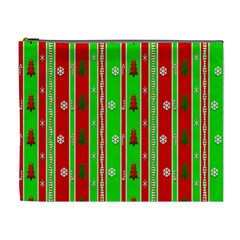 Christmas Paper Pattern Cosmetic Bag (XL)