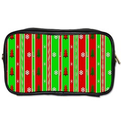 Christmas Paper Pattern Toiletries Bags 2-Side