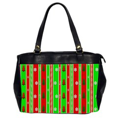 Christmas Paper Pattern Office Handbags (2 Sides)