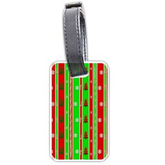 Christmas Paper Pattern Luggage Tags (Two Sides)