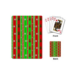 Christmas Paper Pattern Playing Cards (Mini)