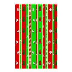 Christmas Paper Pattern Shower Curtain 48  x 72  (Small)