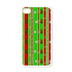 Christmas Paper Pattern Apple Iphone 4 Case (white)