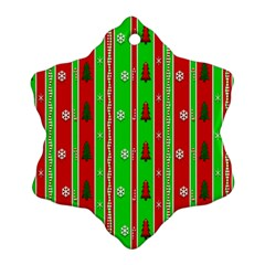 Christmas Paper Pattern Snowflake Ornament (Two Sides)