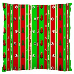 Christmas Paper Pattern Large Cushion Case (One Side)