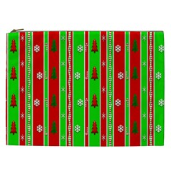 Christmas Paper Pattern Cosmetic Bag (XXL)