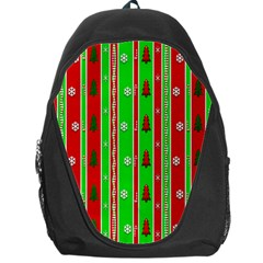 Christmas Paper Pattern Backpack Bag
