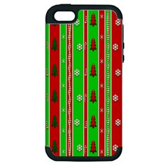 Christmas Paper Pattern Apple iPhone 5 Hardshell Case (PC+Silicone)