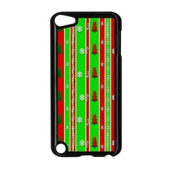 Christmas Paper Pattern Apple Ipod Touch 5 Case (black)