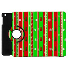 Christmas Paper Pattern Apple iPad Mini Flip 360 Case