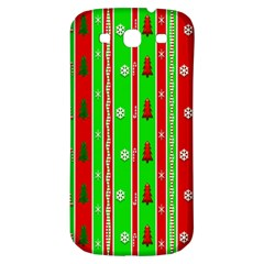 Christmas Paper Pattern Samsung Galaxy S3 S III Classic Hardshell Back Case