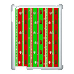 Christmas Paper Pattern Apple iPad 3/4 Case (White)