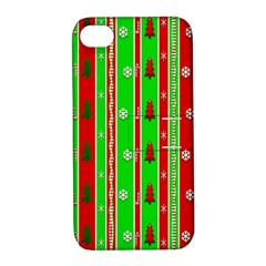 Christmas Paper Pattern Apple iPhone 4/4S Hardshell Case with Stand