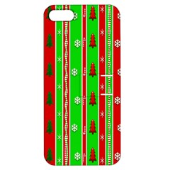 Christmas Paper Pattern Apple iPhone 5 Hardshell Case with Stand