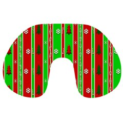 Christmas Paper Pattern Travel Neck Pillows