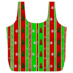 Christmas Paper Pattern Full Print Recycle Bags (L)