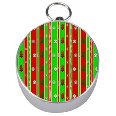 Christmas Paper Pattern Silver Compasses