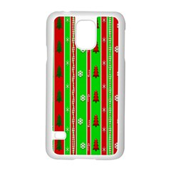 Christmas Paper Pattern Samsung Galaxy S5 Case (White)