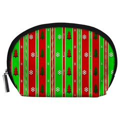 Christmas Paper Pattern Accessory Pouches (Large)