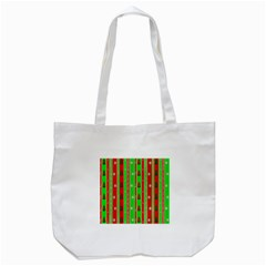 Christmas Paper Pattern Tote Bag (White)