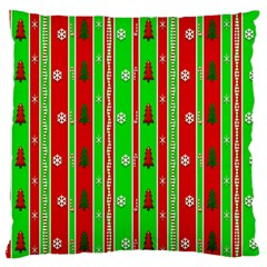 Christmas Paper Pattern Large Flano Cushion Case (Two Sides)