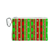 Christmas Paper Pattern Canvas Cosmetic Bag (S)
