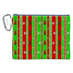 Christmas Paper Pattern Canvas Cosmetic Bag (XXL)