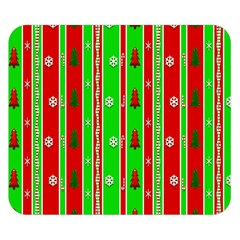 Christmas Paper Pattern Double Sided Flano Blanket (Small)