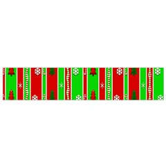 Christmas Paper Pattern Flano Scarf (Small)