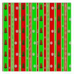Christmas Paper Pattern Large Satin Scarf (Square)
