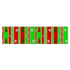 Christmas Paper Pattern Satin Scarf (Oblong)