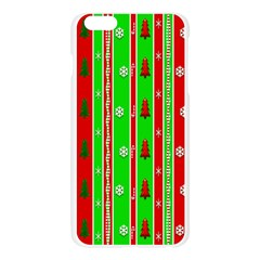 Christmas Paper Pattern Apple Seamless iPhone 6 Plus/6S Plus Case (Transparent)