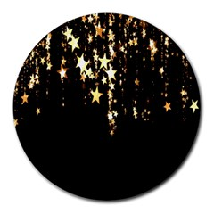 Christmas Star Advent Background Round Mousepads