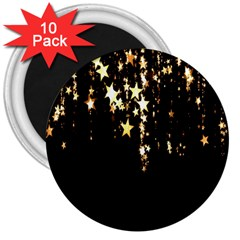 Christmas Star Advent Background 3  Magnets (10 pack)