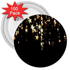 Christmas Star Advent Background 3  Buttons (100 Pack)